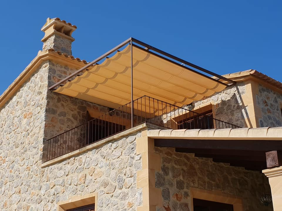 toldo de palillos en terraza casa toldos arta